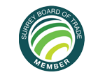 Proud member of Surrey board of trade
