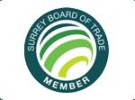 Proud member of Surrey board of trade